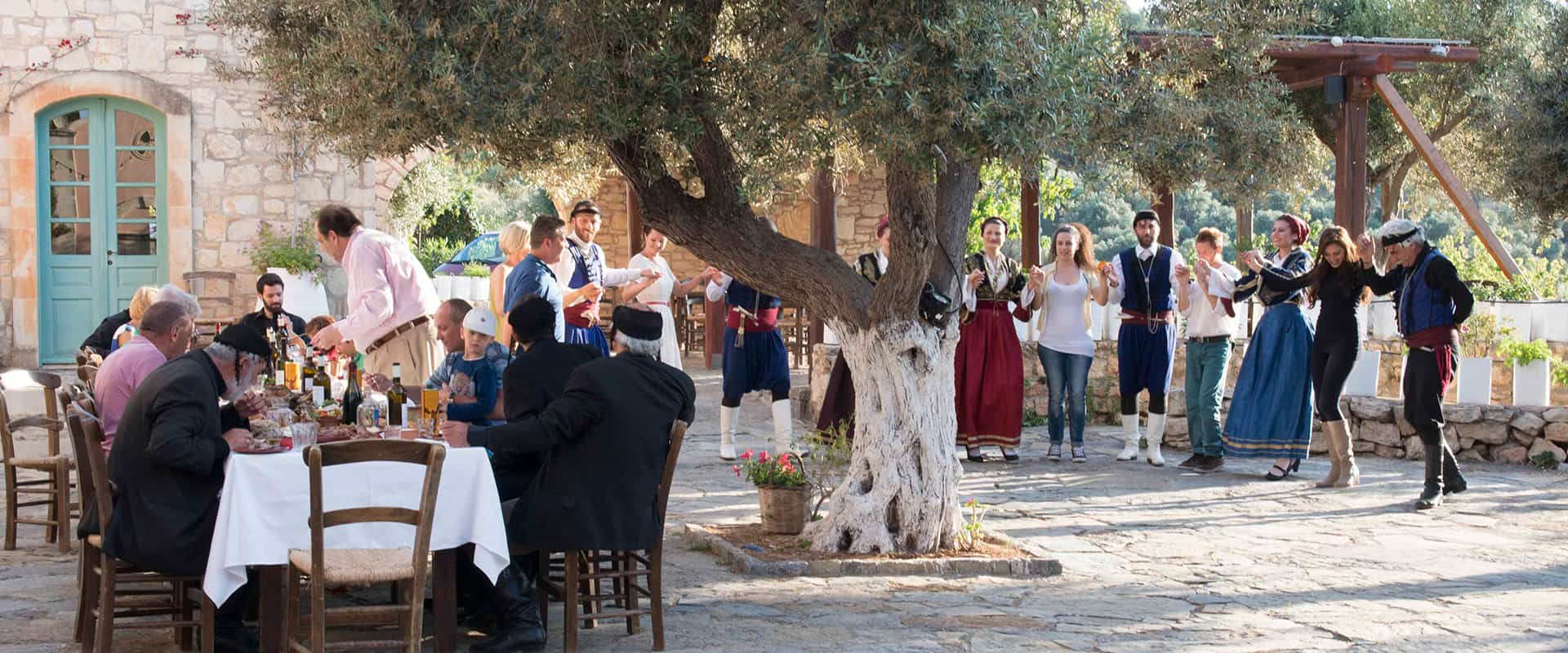 Watch Cretan traditional dances and why not try it for yourself.