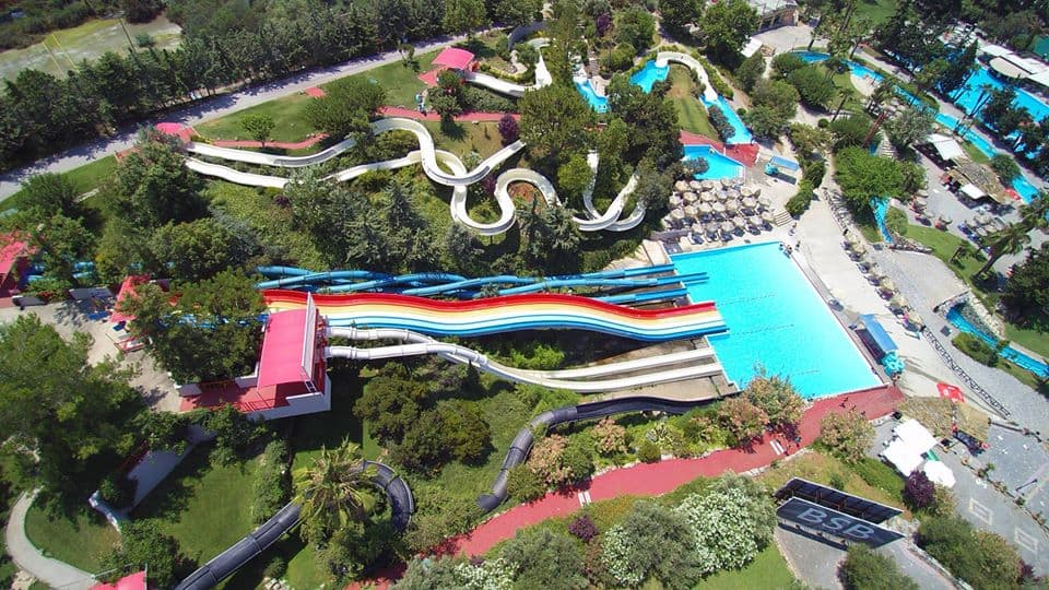 Fun for all in Limnoupoli Water Park.There is a slide for everyone.