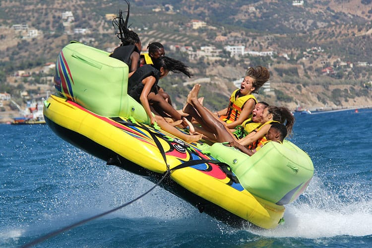 Have fun with a variety of water sports.